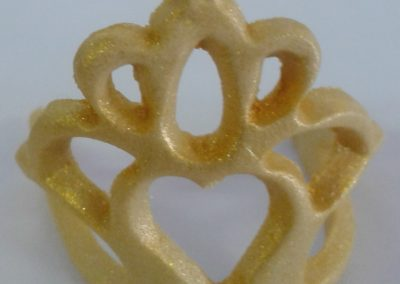 3D Crown for Cupcakes Gold