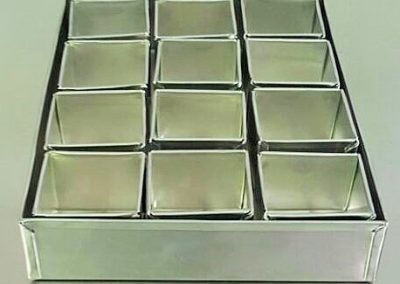 Aluminum Mini Cake Tin Square 10 x 10 x 8cm and 7 x 8cm