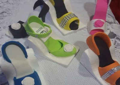 Fondant Decorated High Heel Shoes