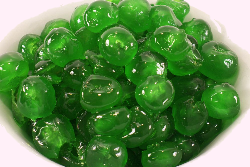 Green Glazed Cherries Broken