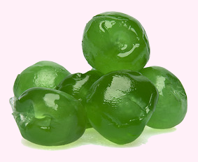 Green Glazed Cherries Whole