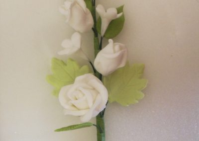 Small Sugarpaste Rose Spray