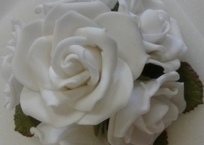 Small White Rose Posy