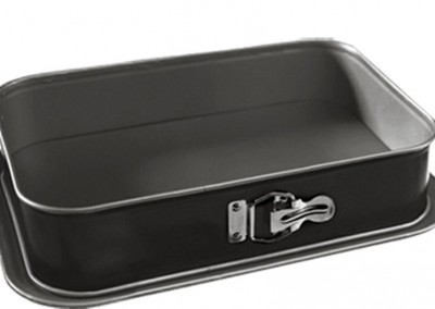 Springform medium 28 x18cm regtangular pan with tray