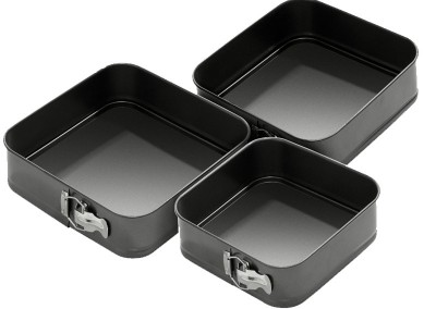 Springform nonstick square baking pans
