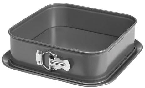 Springform pan with serving tray square