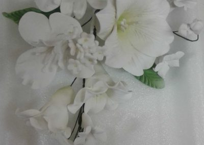 White Orcid Flower Spray