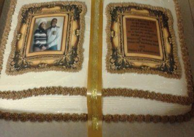 Book Cake With Edible Printing