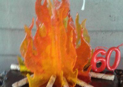 Isomalt Flames