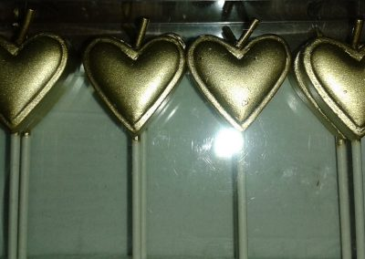 PME Gold Heart Candles
