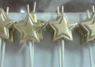 PME Silver Star Candles