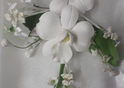 White Orchad Flower Spray