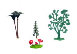 Plasrtic Trees and Toatstools Decorations