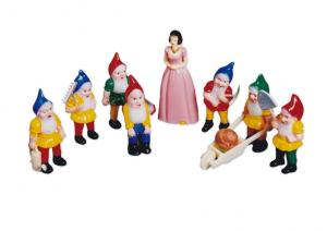 Plastic Snow White and the secen Darfs Set