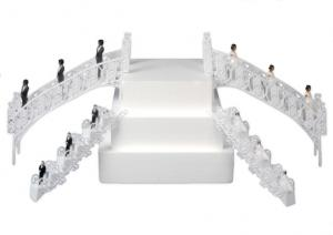 Plastic Wedding Cake Stairs Small or Large