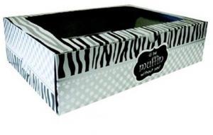Black Cupcake Box with Inner 12's