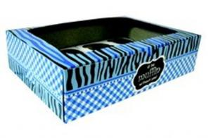 Blue Cupcake Box with Inner 12's