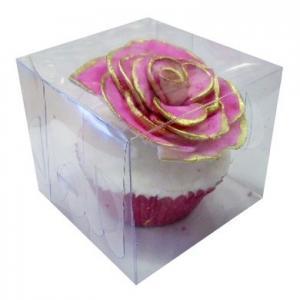 PVC Single Cupcake Box 80x80x70mm Pack of 6