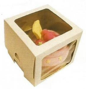 White 2 Window Cupcake Single Boxes Pack of 6
